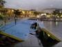Rampa na Marina da Glória é danificada pela ressaca do mar no Rio