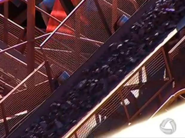 Exploração de minério de ferro em Corumbá, Mato Grosso do Sul (Foto: Reprodução/TV Morena)