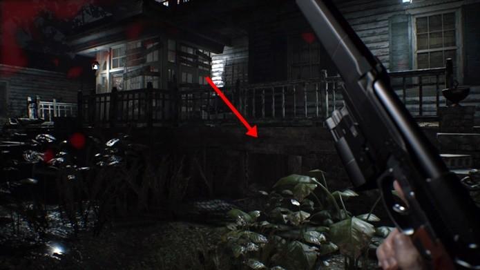 Item especial de Resident Evil 7 pode ser encontrado na primeira metade do game (Foto: Reprodução/Felipe Demartini)