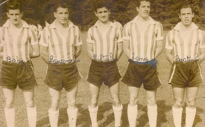 lanzoninho no time do Coritiba década de 50 (Foto: Reprodução/Site oficial do Coritiba)
