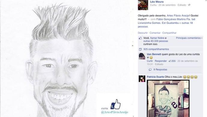 Torcedor potiguar desenho Léo Moura (Foto: Reprodução/Facebook)