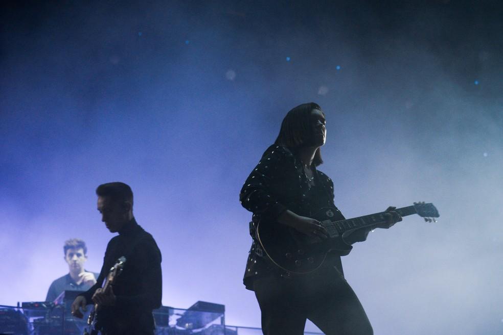 The xx faz show atmosférico e soturno no Lollapalooza 2017 (Foto: Guilherme Tosetto/G1)