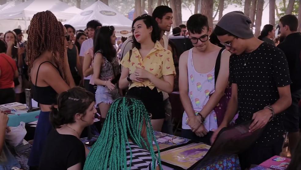 Artistas de Brasília vendem produtos no Picnik no Parque da Cidade (Foto: Reprodução)