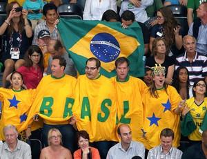 Torcedores do Brasil x Itália, Vôlei (Foto: Agência Reuters)