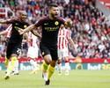 Agüero decide, e City goleia o Stoke