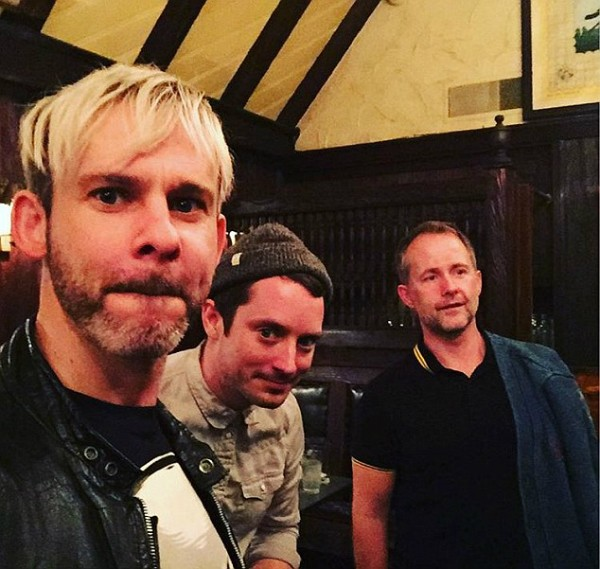 Elijah Wood, Dominic Monaghan e Billy Boyd (Foto: Instagram)