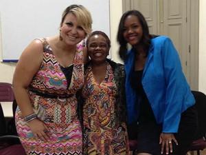 Duda Moura Nivalda Barbosa Samara Miranda documentário Mulheres no Samba Juiz de Fora (Foto: Duda Moura/Arquivo Pessoal)