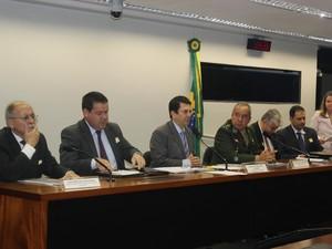Audiência discute segurança na JMJ, em Brasília,  (Foto: Divulgação/ Assessoria deputado Otavio Leite)