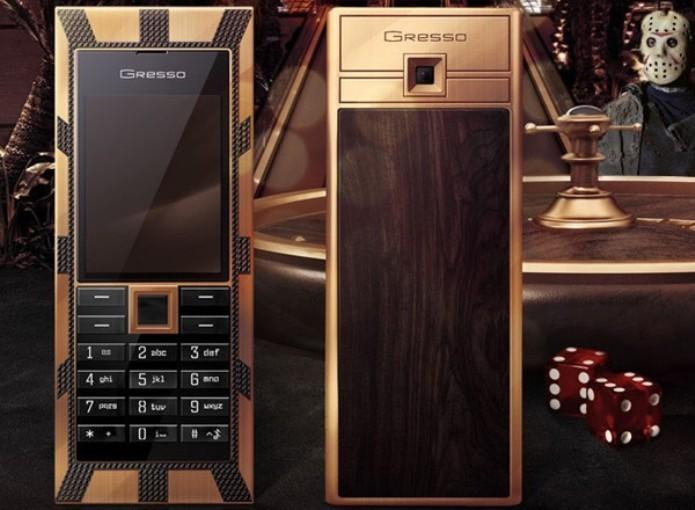 O celular Gresso Luxor Las Vegas Jackpot  custa 1 milhão de dólares (Foto: Reprodução/Engadget)