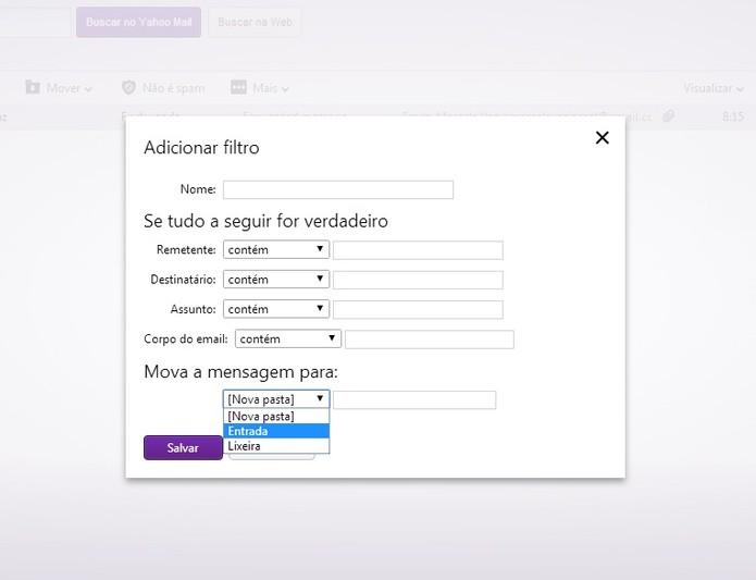 Configuração de e-mail como não sendo spam no Yahoo Mail (Foto: Reprodução/ Marcela Vaz)