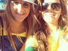 Bruna Marquezine torce por Neymar na Arena Castelão, em Fortaleza