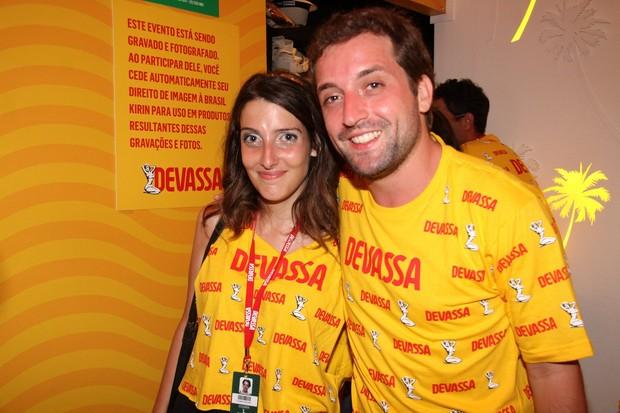 Clarice Falcão e Gregorio Duviver  (Foto: Cleomir Tavares)