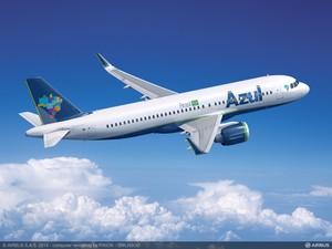Projeção do Airbus A320neo que será comprado pela Azul (Foto: Divulgação)