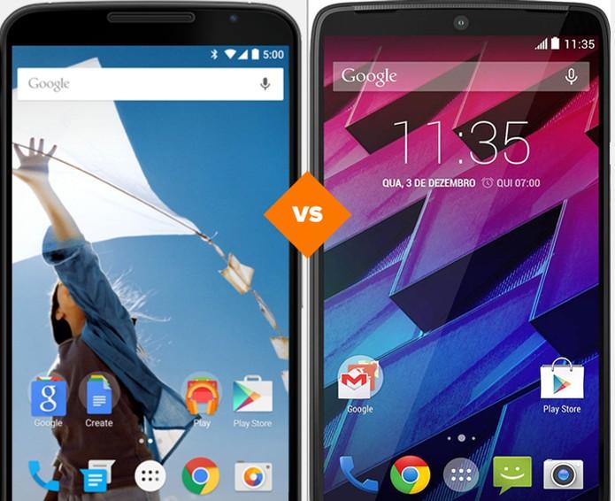 Nexus 6 ou Moto Maxx? Veja qual é o melhor smart  (Foto: Arte/TechTudo)