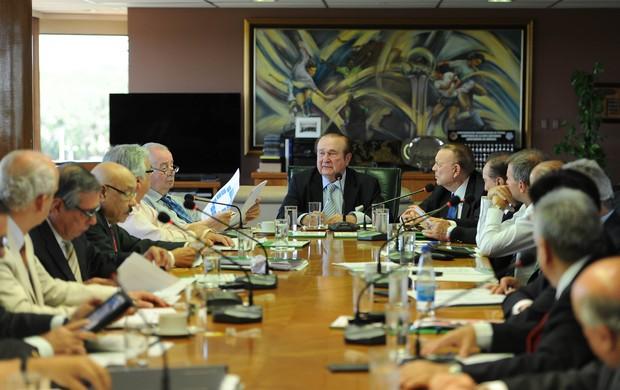 Reunião da Conmebol, Libertadores  (Foto: Ricardo Alfieri / Conmebol, DVG)
