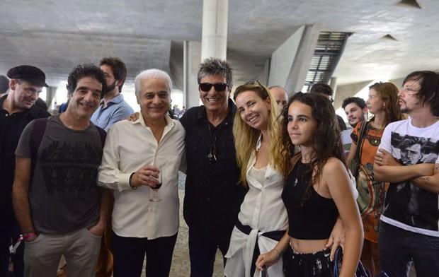 Jorge Israel, Roberto Medina, Evandro Mesquita, Mariana Medina e Raissa Medina (Foto: Fabio Cordeiro/ Ed. Globo)