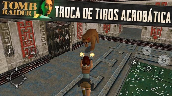 Tomb Raider 1 comemora os 20 anos da série com versão do jogo original no iOS e Android (Foto: Reprodução/Google Play)
