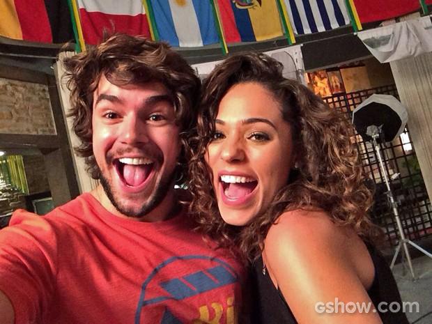 Osmar Silveira foi só alegria no primeiro dia de gravações com Roberta Almeida (Foto: Arquivo Pessoal)