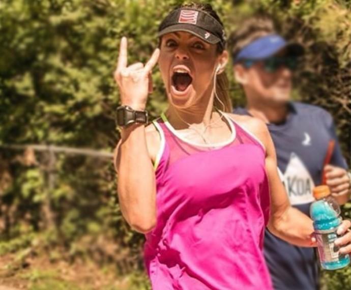 Daniella tenta conciliar a rotina de mãe e de triatleta (Foto: Arquivo Pessoal)