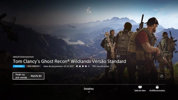 Ghost Recon: Wildlands: baixe o jogo de mundo aberto no PS4 (Foto: Reprodução/Victor Teixeira)