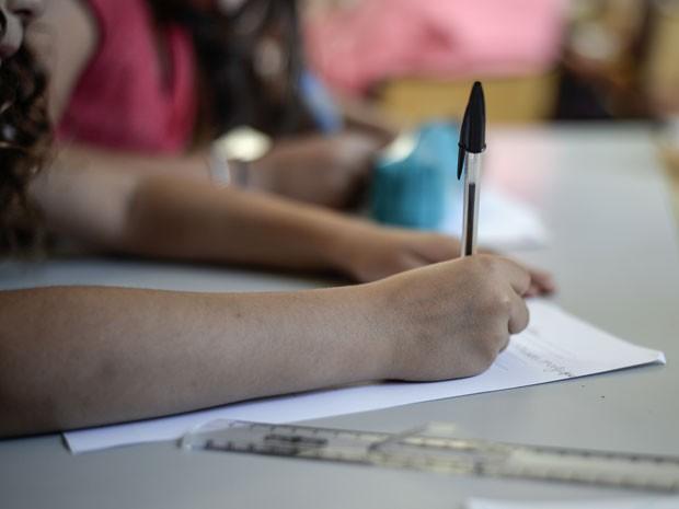 sala de aula, educação, professor, redação, caneta preta