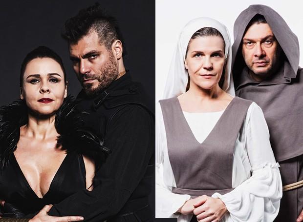 """Entre as peças está o Repertório Shakespeare, com as peças """"Macbeth"""", com  Thiago Lacerda e Giulia Gam e """"Medida por Medida"""", com  Marco Antônio Pâmio e Luisa Thiré (Foto: Divulgação)"""