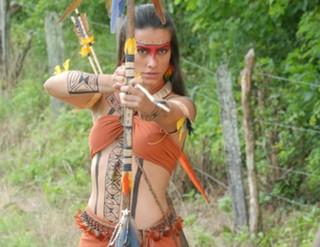 Cleo Pires em 'Araguaia' (Foto: TV Globo/Marcio Nunes)