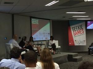 Secretárias do MEC e da educação e cultura do Tocantins participaram do debate sobre tecnologia nas escolas (Foto: Cauê Fabiano/G1)
