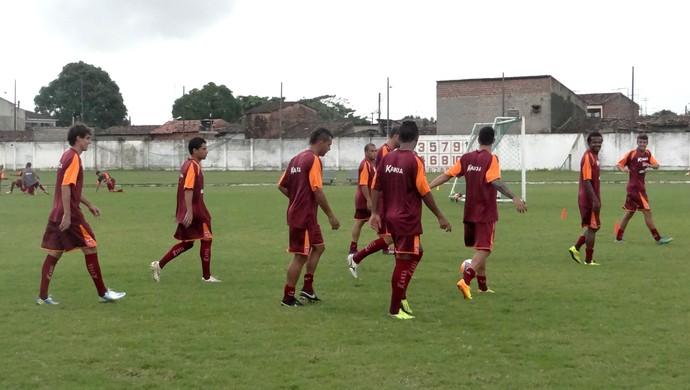 CRB treino (Foto: Viviane Leão/GloboEsporte.com)