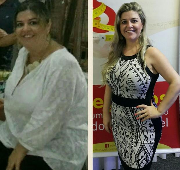 Edivana antes e depois (Foto: Arquivo pessoal)
