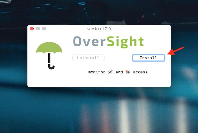 Instalação do aplicativo OverSight que impede o acesso não autorizado à webcam do Mac (Foto: Reprodução/Marvin Costa)