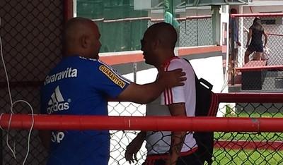 Flamengo Gávea treino (Foto: Fred Gomes / GloboEsporte.com)