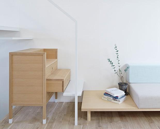 Alguns degraus da escada são gavetas (Foto: Divulgação)