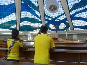 Torcida também pode visitar a Catedral de Brasília  (Foto: Paulo Guilherme/G1)