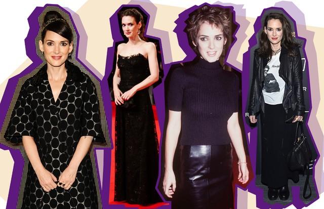 O estilo de Winona Ryder (Foto: Reprodução e Getty)