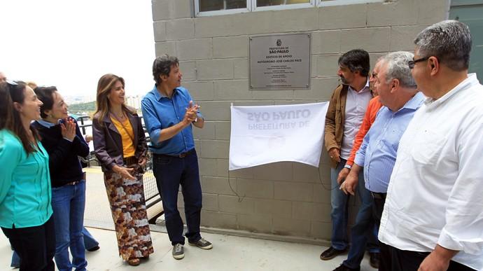 Prefeito de São Paulo, Fernando Haddad inaugura obras em Interlagos (Foto: Beto Issa/GP do Brasil de F1)