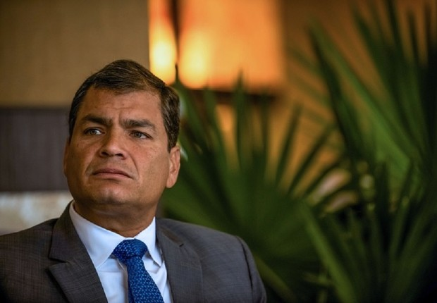 Rafael Correa , presidente do Equador (Foto: Meridith Kohut/Bloomberg via Getty Images)
