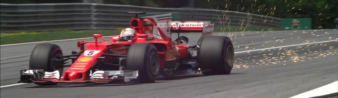 Sebastian Vettel terceiro treino livre (Foto: Reprodução)