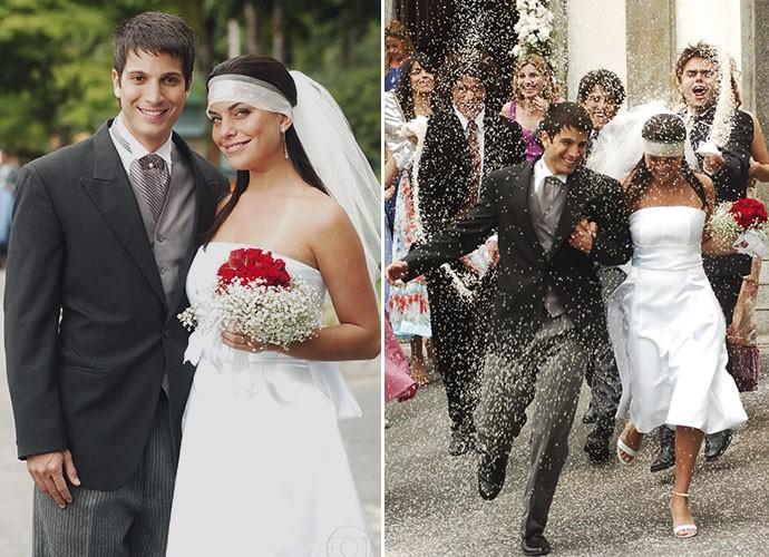 Jaque e Urubu printos para o casamento (Foto: TV Globo)
