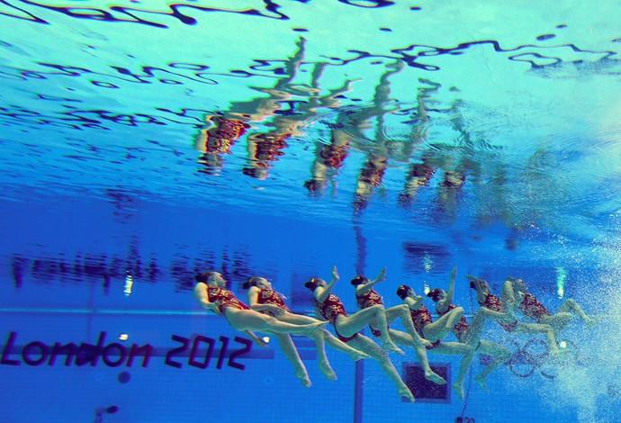 nado sincronizado equipe rússia londres 2012 (Foto: Agência EFE)