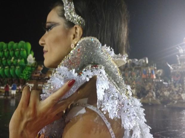 Tânia Oliveira na concentração (Foto: Bárbara Vieira / EGO)