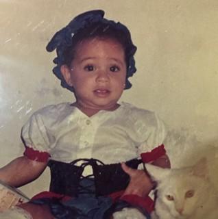 Anielle Brandão quando era criança (Foto: Arquivo pessoal)
