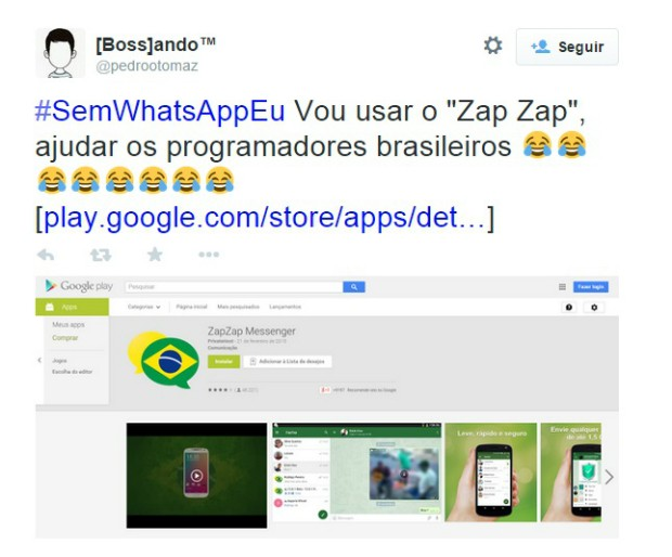 Meme WhatsApp 1 (Foto: Reprodução/Twitter)