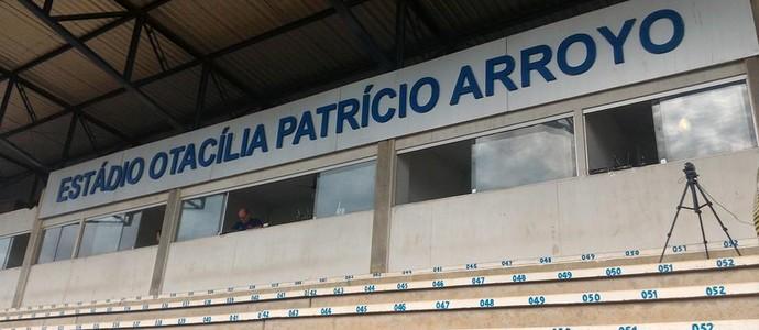 Estádio Otacília Patrícia Arroyo, em Monte Azul Paulista (Foto: Divulgação / Guarani FC)