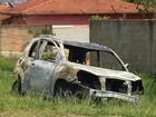 Corpo carbonizado é encontrado em carro incendiado em Botucatu