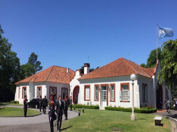 Imagem da residência oficial da Presidência da Argentina (Foto: Presidência da República)