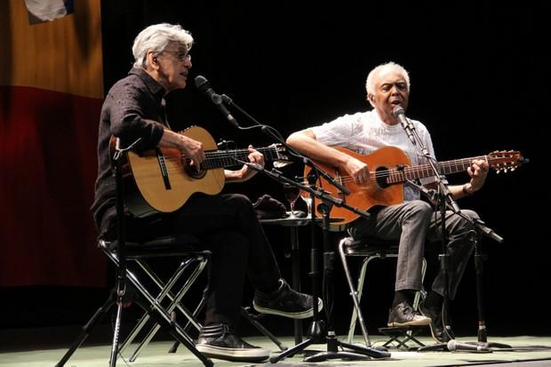 Show de Gilberto Gil e Caetano Veloso (Foto: Wallace Barbosa/AgNews)