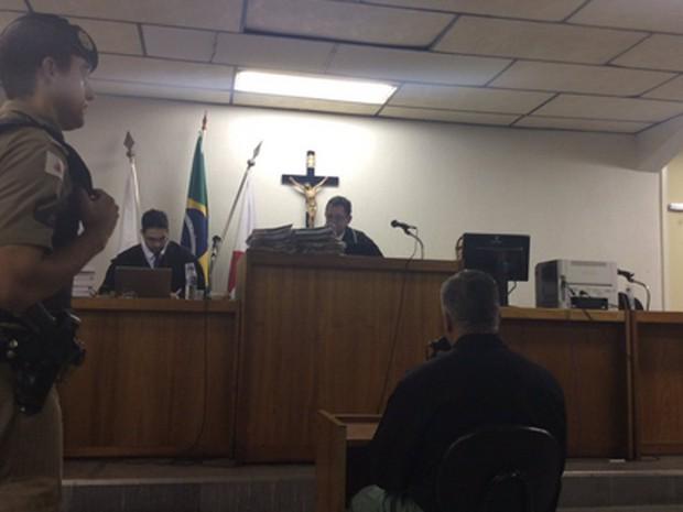 Julgamento de Marcos Aparecido dos Santos entra no segundo dia (Foto: Lucas Henrique Andrade / TJMG)