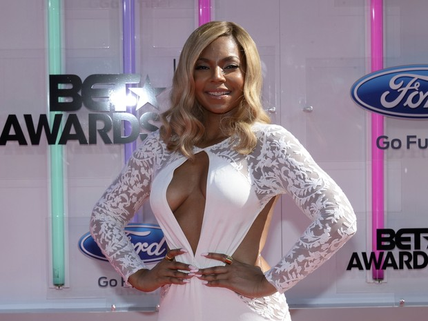 Ashanti no BET Awards em Los Angeles, nos Estados Unidos (Foto: Kevork Djansezian/ Reuters)