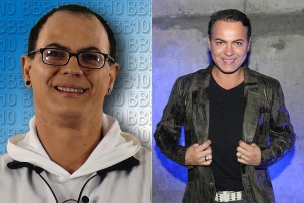 Dicésar fez implante de cabelo, trocou os óculos por lentes e fez tratamento estético nos dentes (Foto: TV Globo/Divulgação/Reprodução)